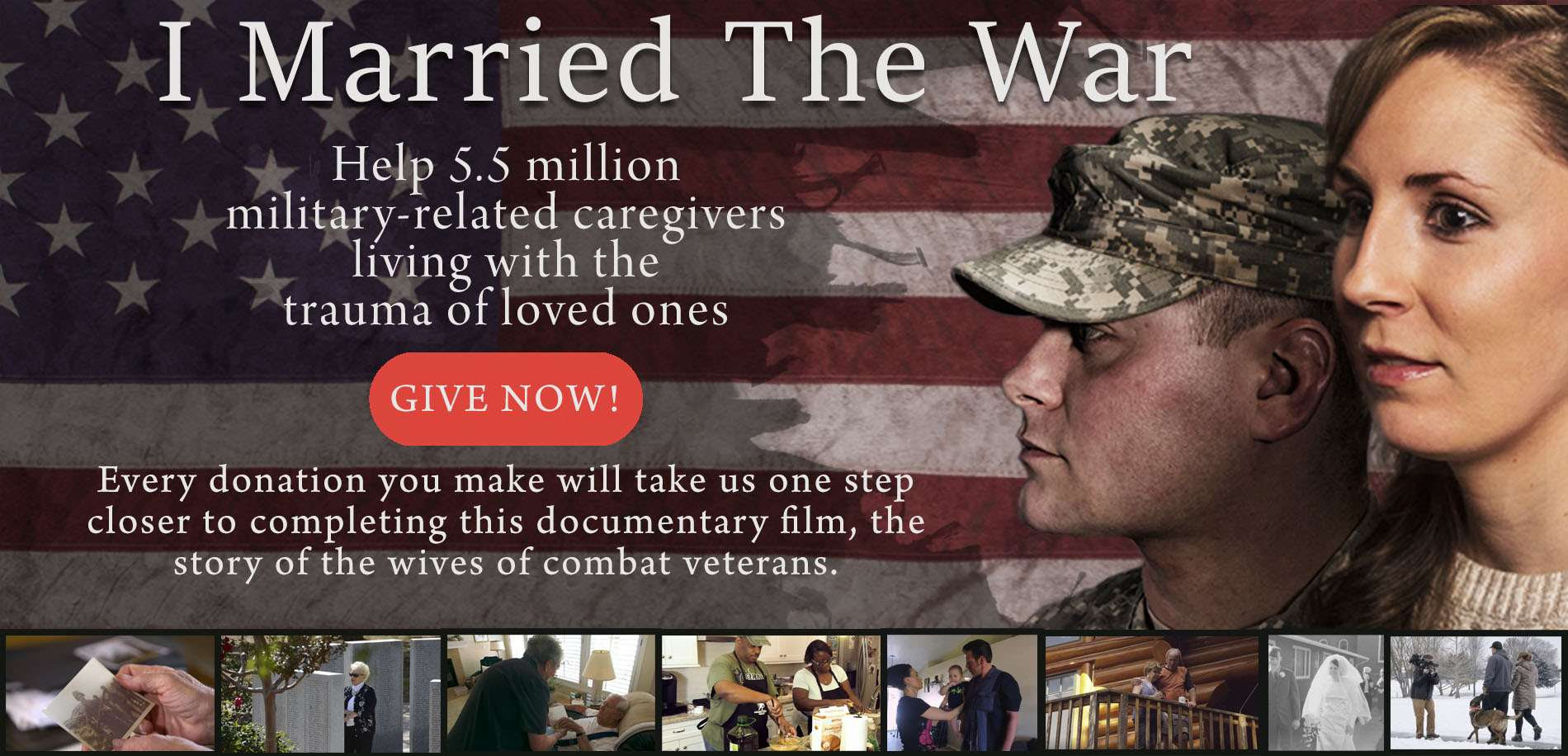 I Married The War Indiegogo support banner
